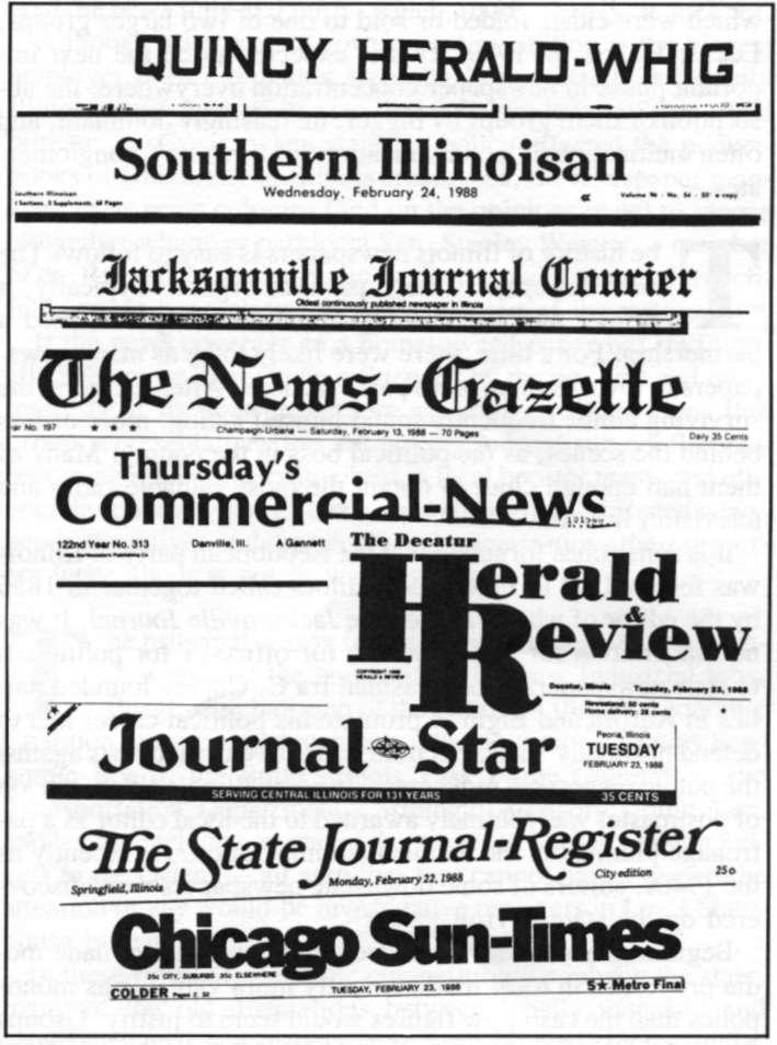Illinois' newspapers April 1988