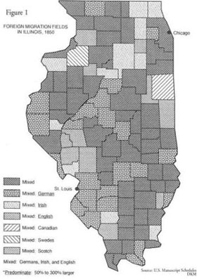 Foreign Immigrants in Illinois 1850