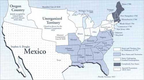 The United States At The Time Of The Missouri Compromise 1820